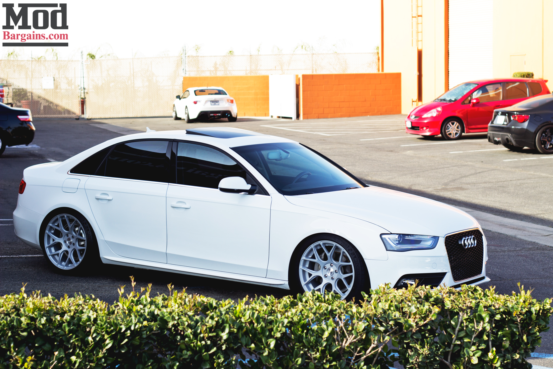 Quick Snap White Audi A4 On Avant Garde M590 Wheels