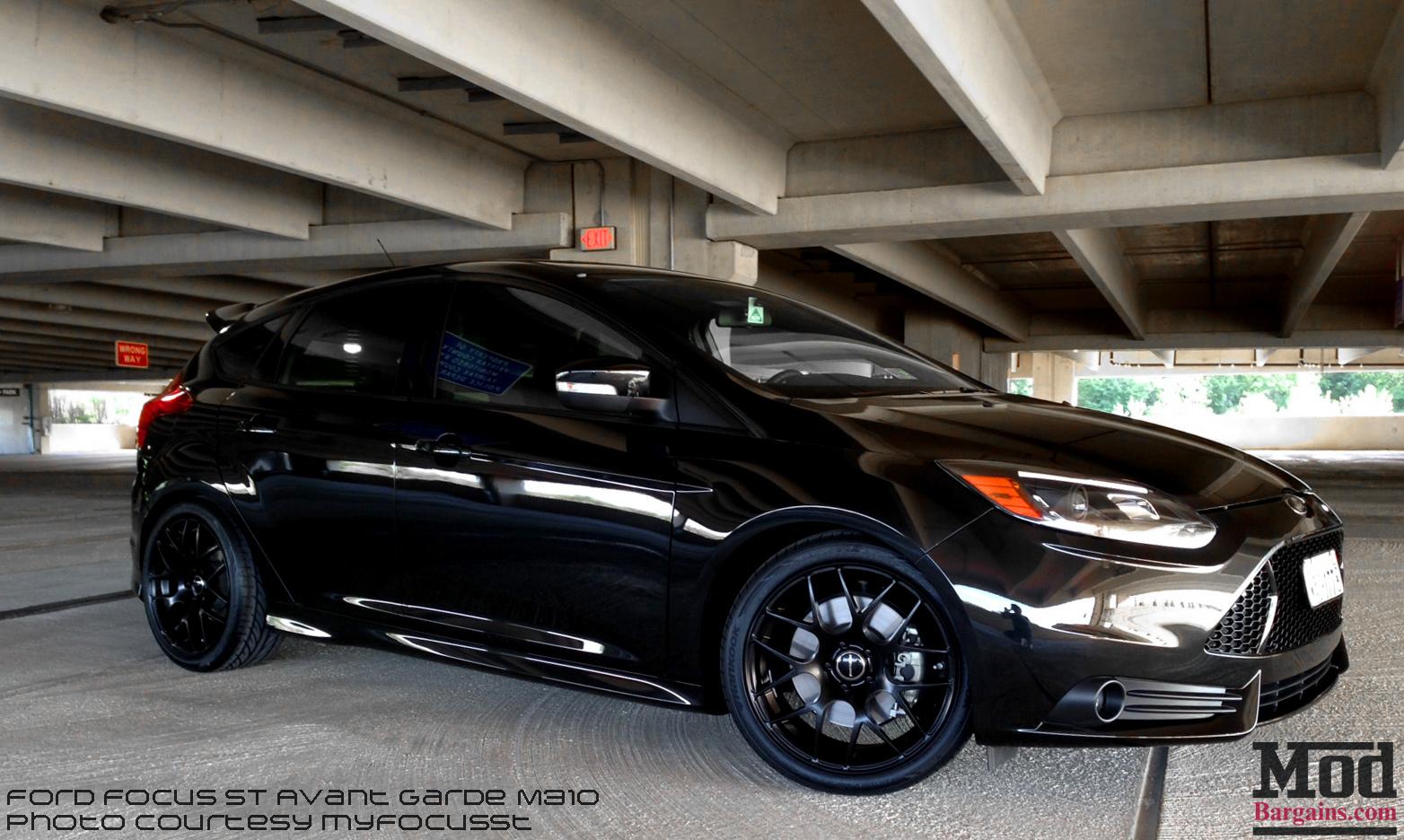 Total Blackout Ford Focus St On Matte Black Avant Garde