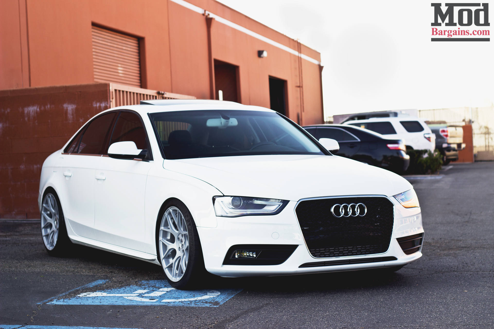 Quick Snap: White Audi A4 on Avant Garde M590 Wheels