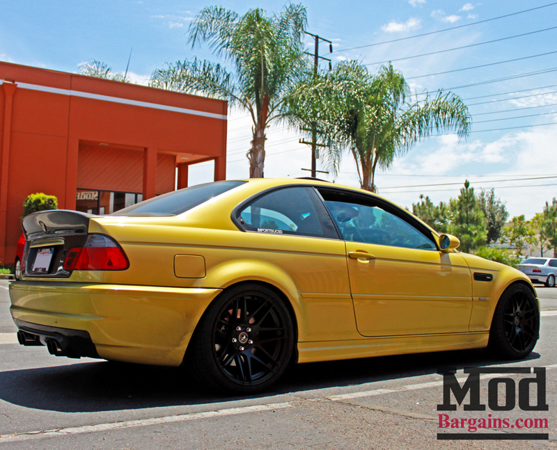 Photos Phoenix Yellow E46 Bmw M3 On Matte Black Forgestar