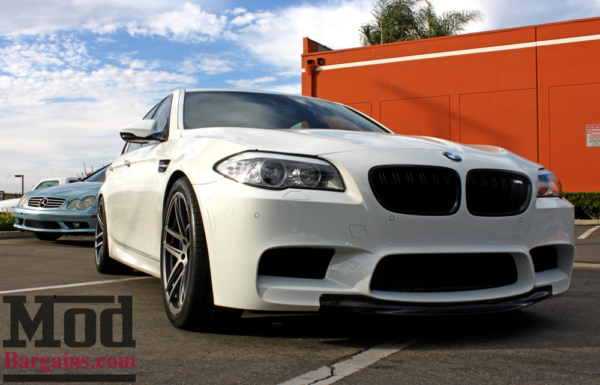 BMW F10 M5 gets low on KW Height Adjustable Springs for SEMA