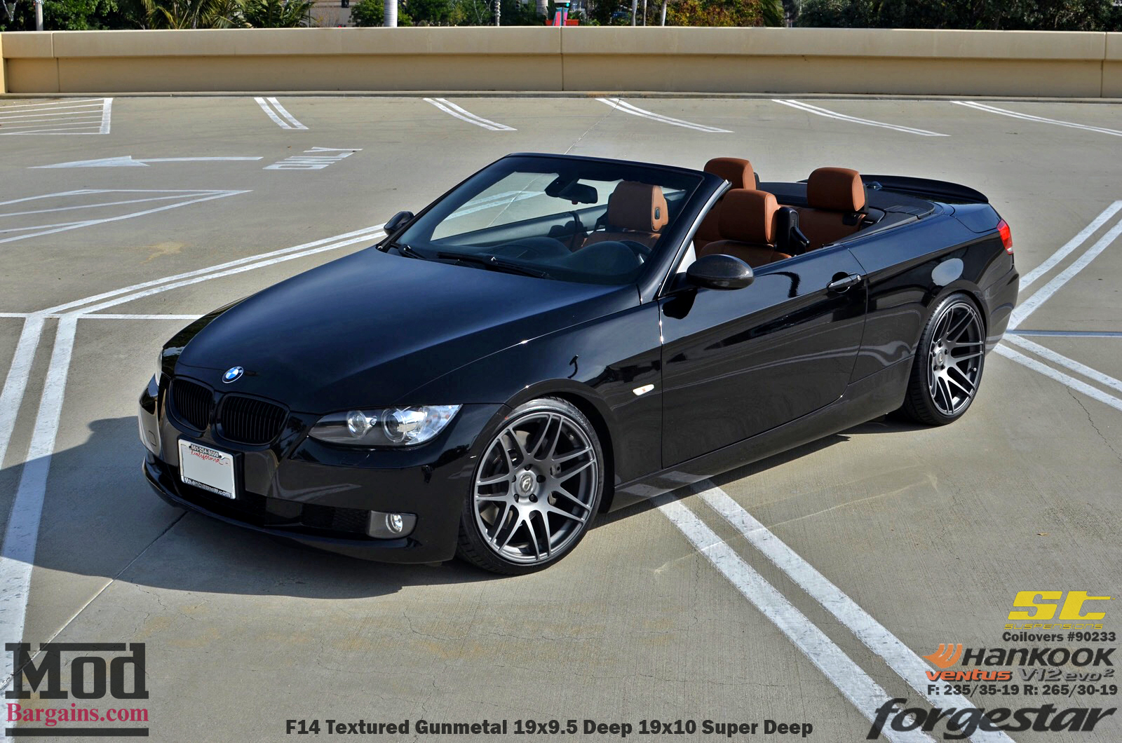 jeff k 39 s bmw e93 on st coilovers with forgestar f14 wheels. Black Bedroom Furniture Sets. Home Design Ideas