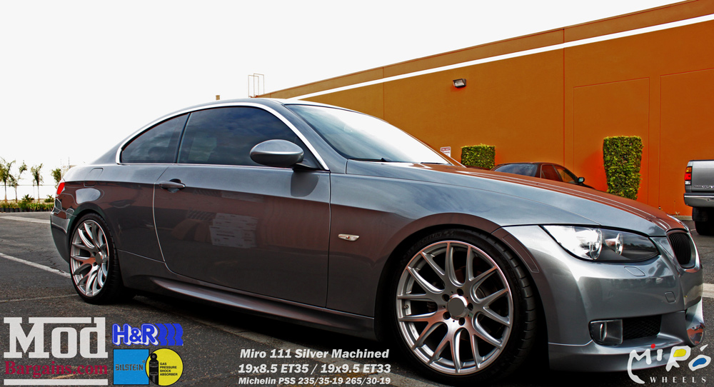 E92 Bmw 328i On Miro 111 Wheels Gets Cf Diffuser