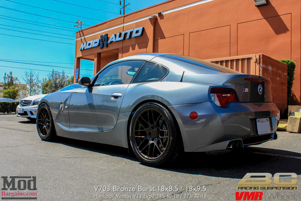 Bmw Z4m Coupe Gets Vmr V703 Wheels In Bronze Burst
