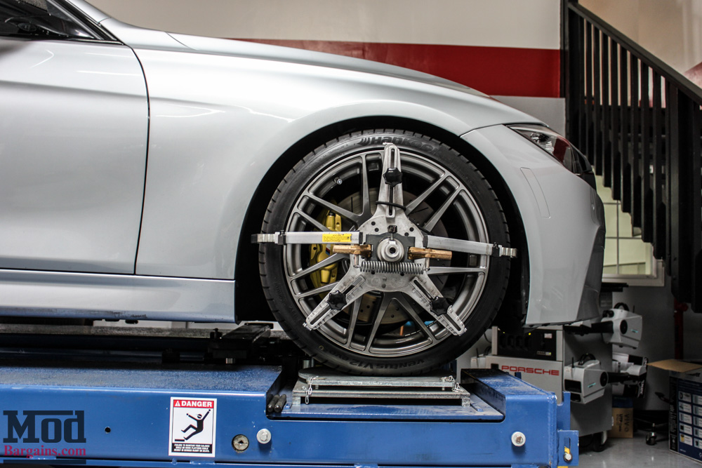 how to get lowered car on alignment rack
