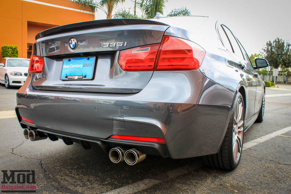 BMW F30 335i M-Sport Style Diffuser for Quad Exhaust Pics