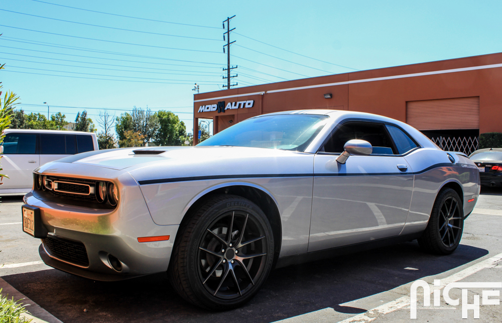 Dodge Challenger On Niche Targa Wheels Rocks Retro Look