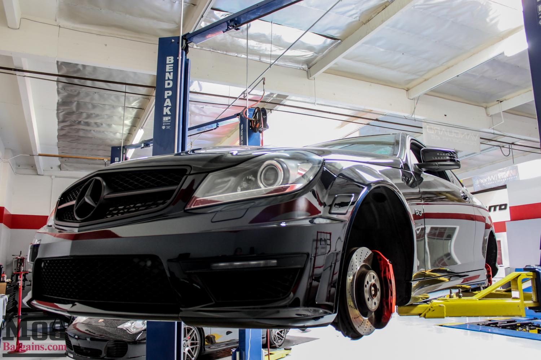 W204 Mercedes C63 AMG Coupe on HRE FF15 Tarmac Wheels