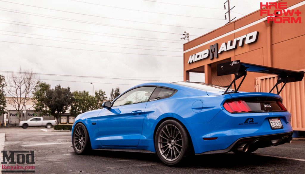 HRE Liquid Silver FF15 On Blue Mustang GT