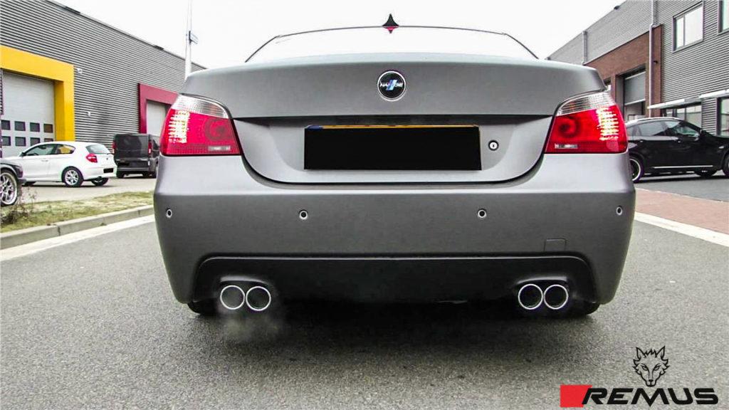 BMW_E60_528i_Remus_exhaust_Polished_img001