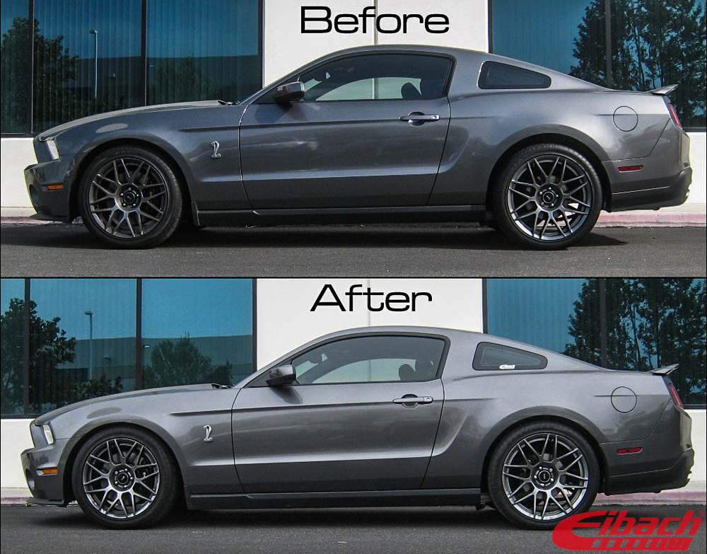 Ford_S197_Mustang_GT_Eibach_Pro-Kit-Springs_Before_after_img002