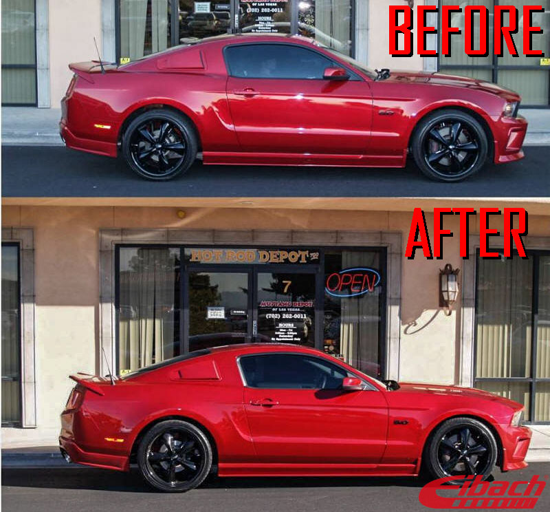Ford_S197_Mustang_GT_Eibach_Pro-Kit-Springs_Before_after_img003