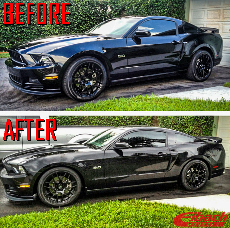 Ford_S197_Mustang_GT_Eibach_Pro-Kit-Springs_Before_after_img005