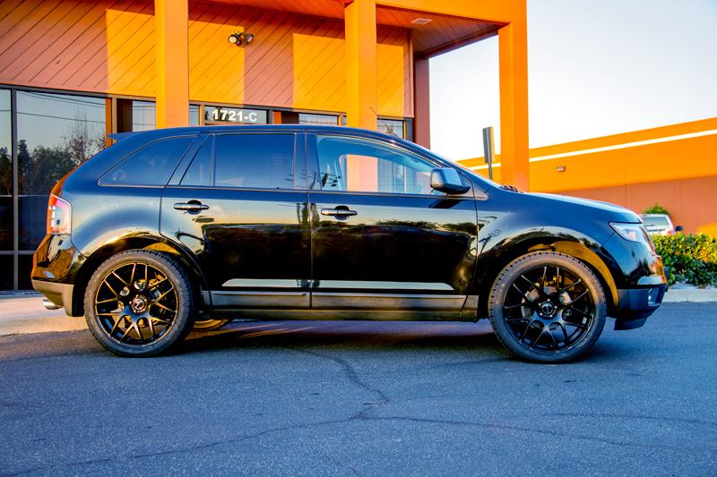 ford edge on avant garde m310 matte black wheels. Black Bedroom Furniture Sets. Home Design Ideas