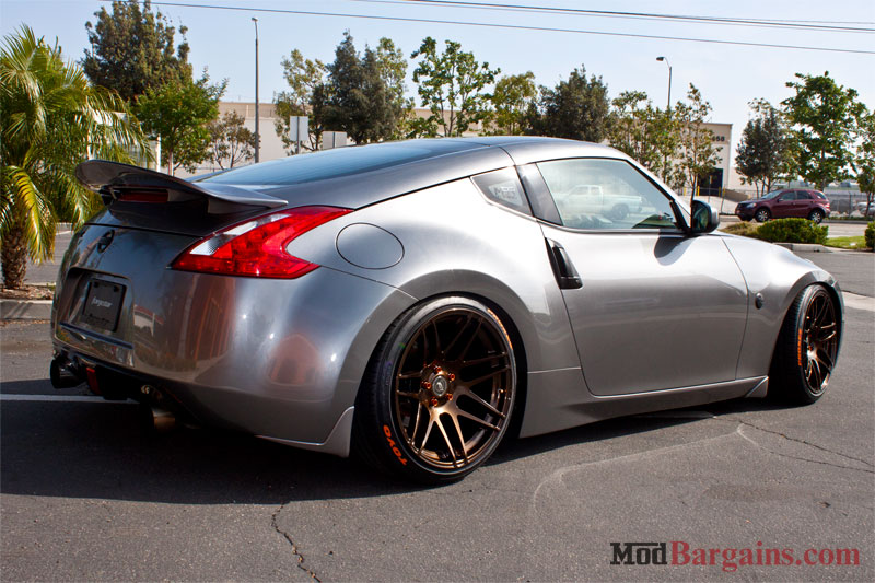 Quick Snap Forgestar F14 Sdc Wheels For 370z In Bronze Burst