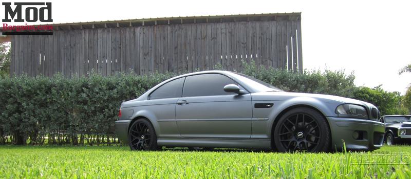 Quick Snap: BMW E46 M3 on Matte Black VMR V710 Wheels