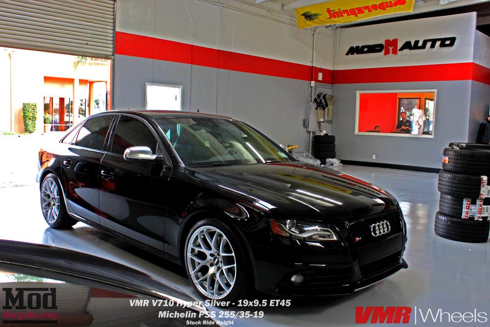 Quick Snap B8 Audi S4 On Vmr V710 Hyper Silver Wheels