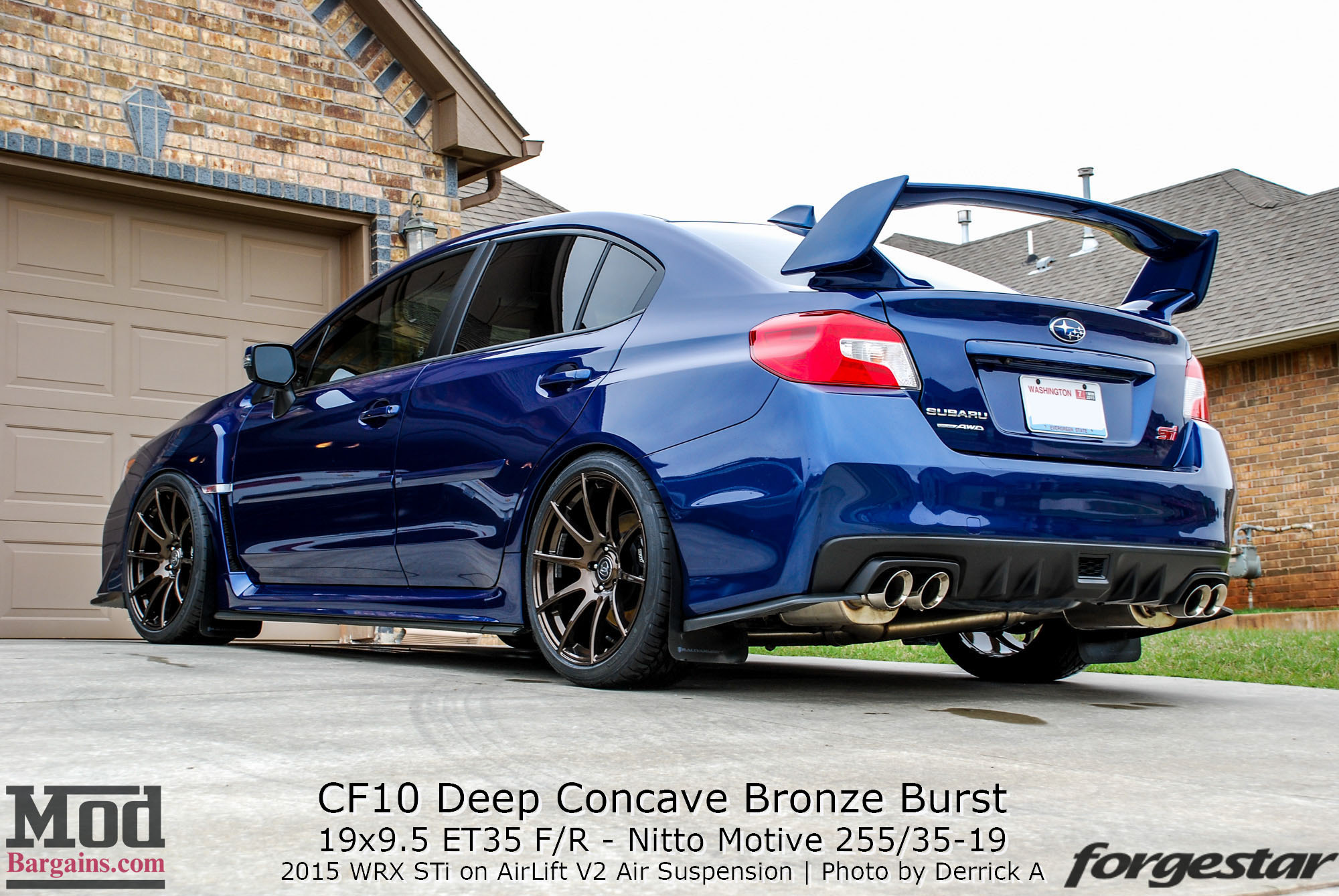 2017 Sti Lowered >> Quick Snap: 2015 STi on Forgestar CF10 Wheels
