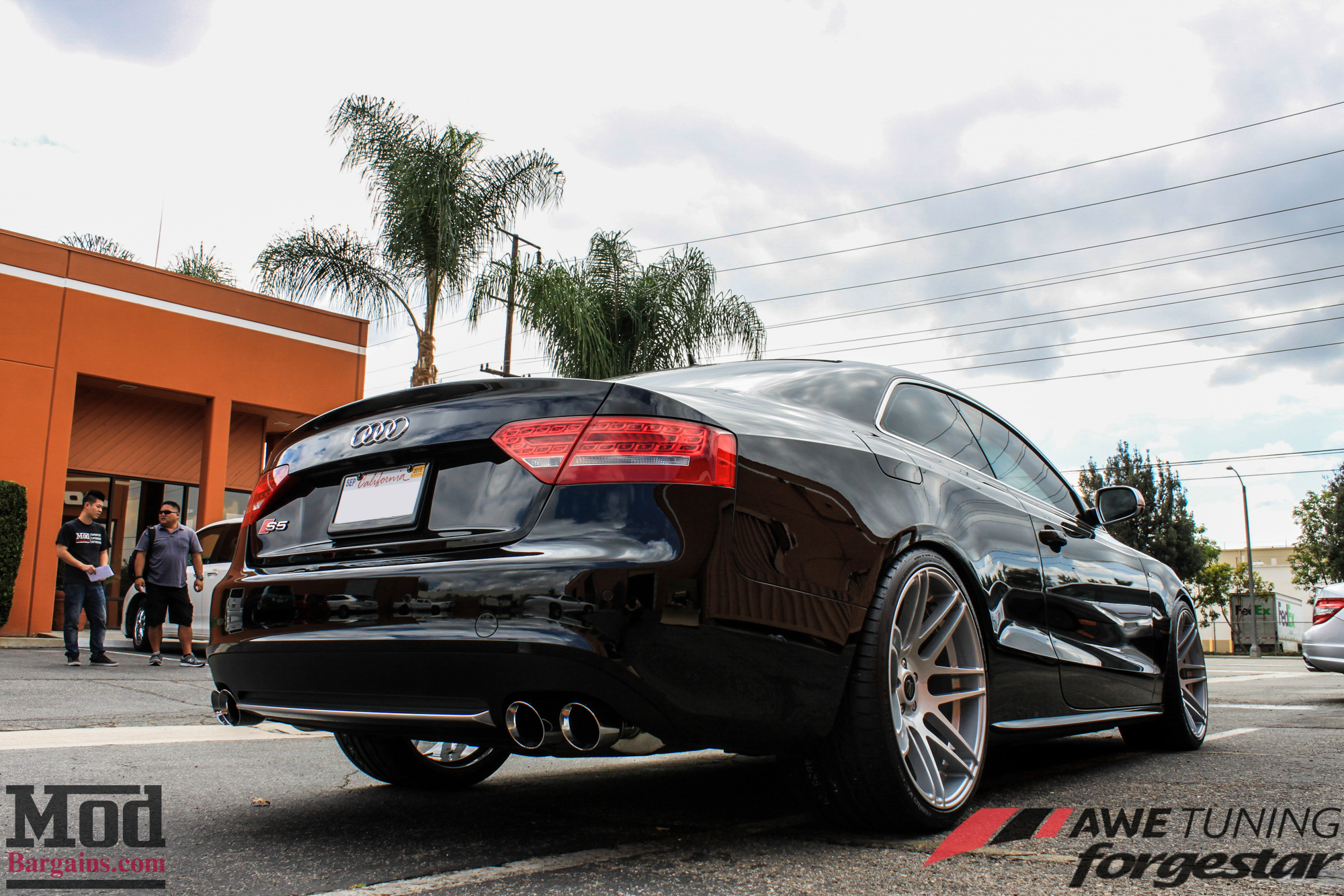 audi s5 gets exhaust by awe tuning sdc forgestar f14s. Black Bedroom Furniture Sets. Home Design Ideas