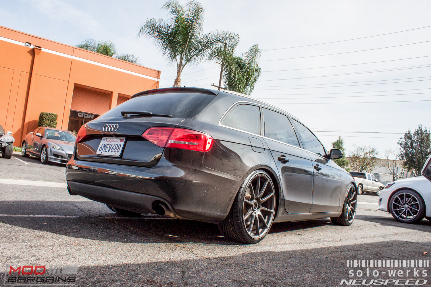 B8 Audi A4 Avant on Solo-Werks Coilovers gets RSe102 Rims