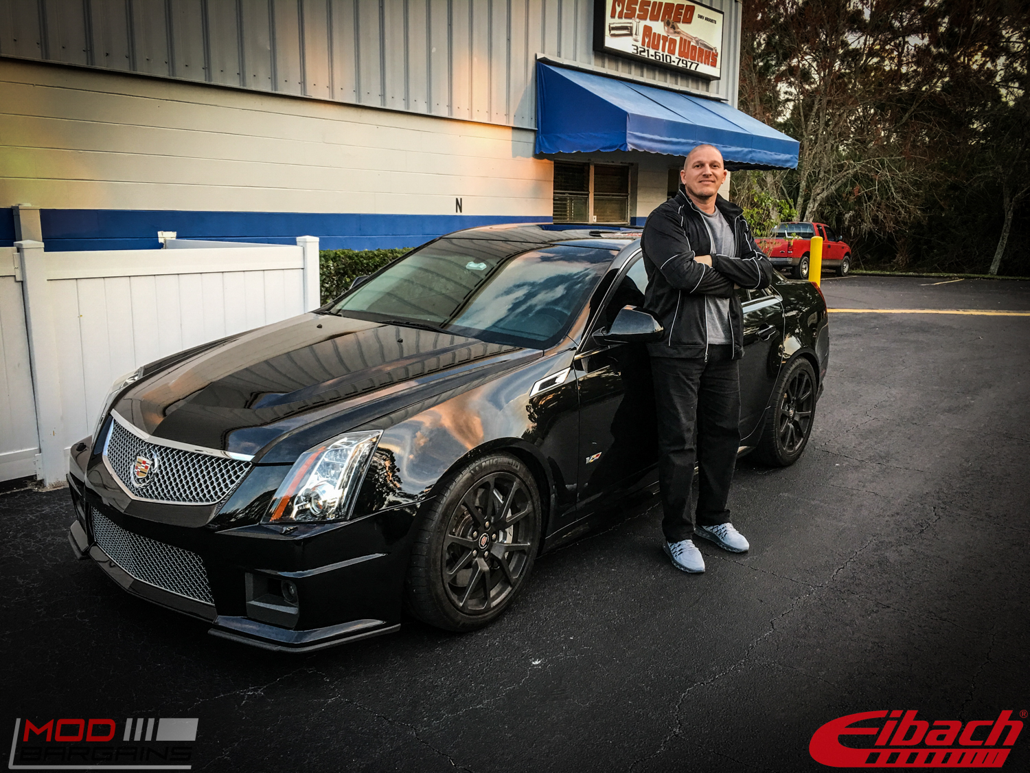 Cadillac Cts V Lowered On Eibach Springs Before After