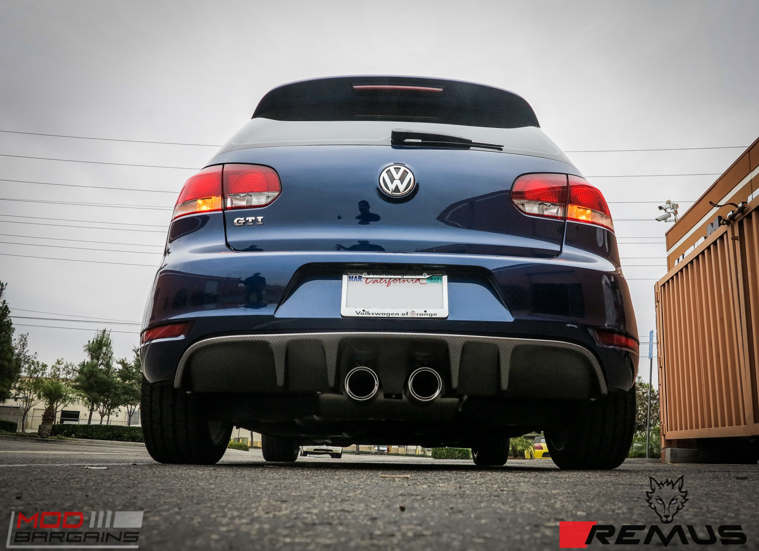vw golf gti mk 6 gets a remus exhaust cf diffuser. Black Bedroom Furniture Sets. Home Design Ideas